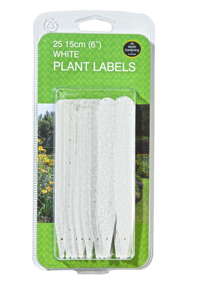 STICKING TAG WHITE 15CM (25UN PACK)