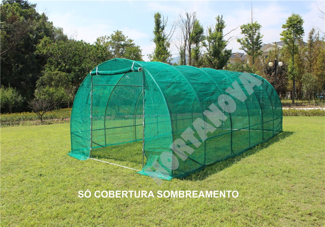 GREENHOUSE SHADING COVER GREEN 196g/m2 3x6x2m
